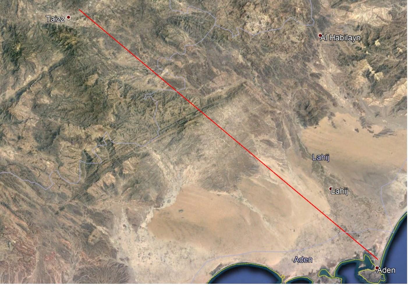 استهداف مطار عدن من تعز